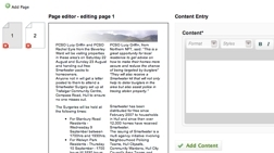 Screen shot of PDF Creation plugin for CMS